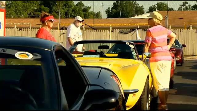 Corvette owners stop in Davison, MI as part of National Corvette Museum Caravan