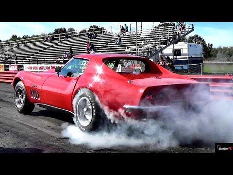 $1 Million Burnout? Ultra Rare 427 L88 Corvette 1/4 Mile Drag Race Video
