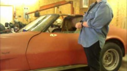 1977 Corvette Barn Find Start Up and Walk-around