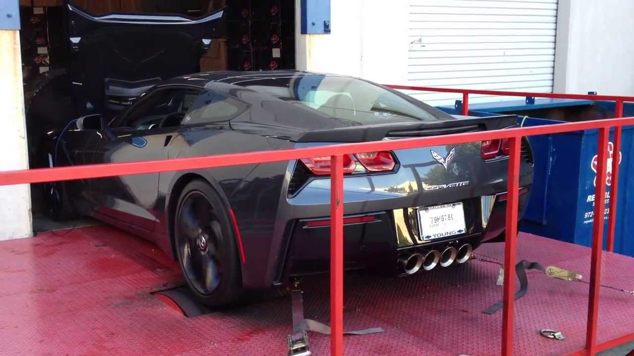 2014 C7 Corvette Stingray Headers Dyno Video