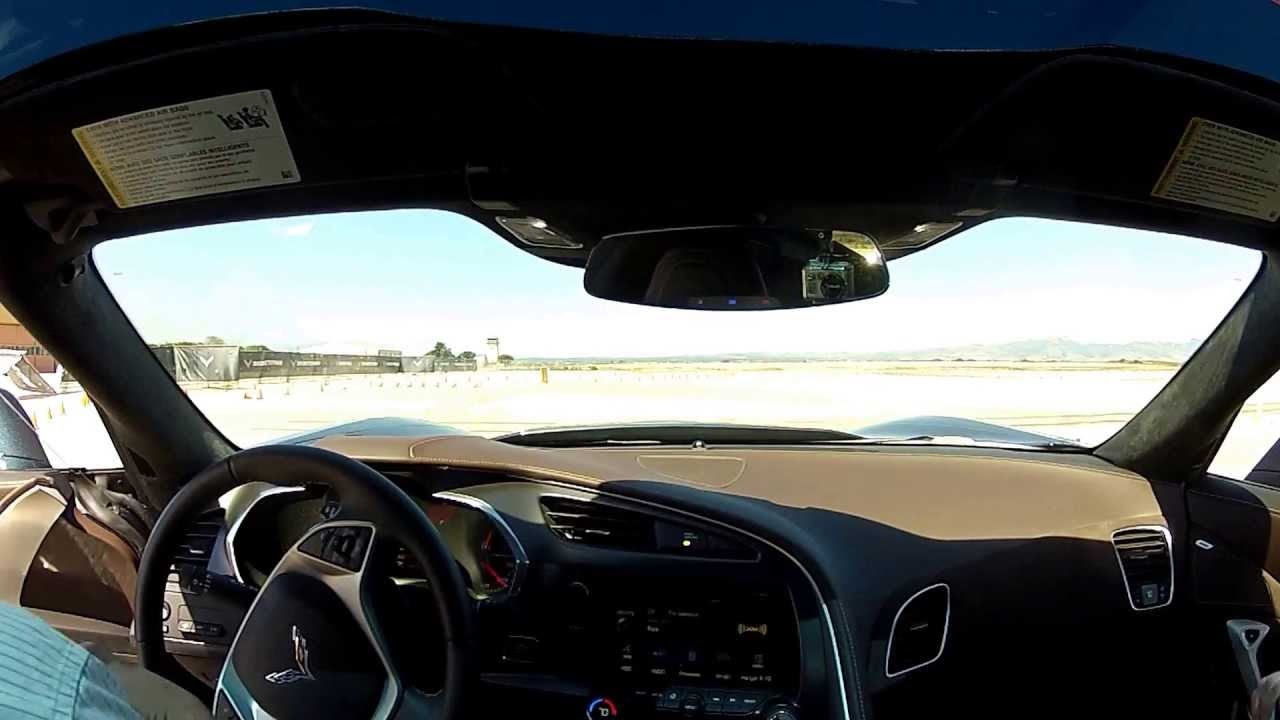 2014 Chevrolet Corvette C7 Stingray autocross @PebbleBeach media drive