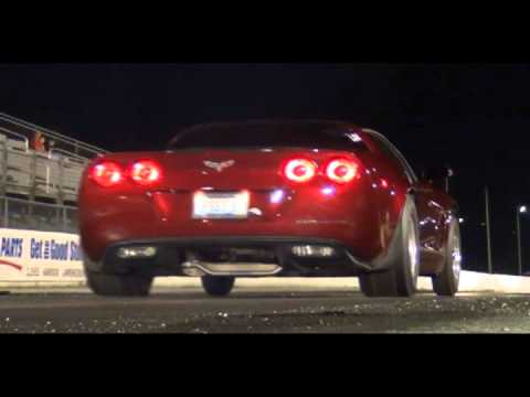 9 second C6 Nitrous Corvette drag racing at Edgewater 2012