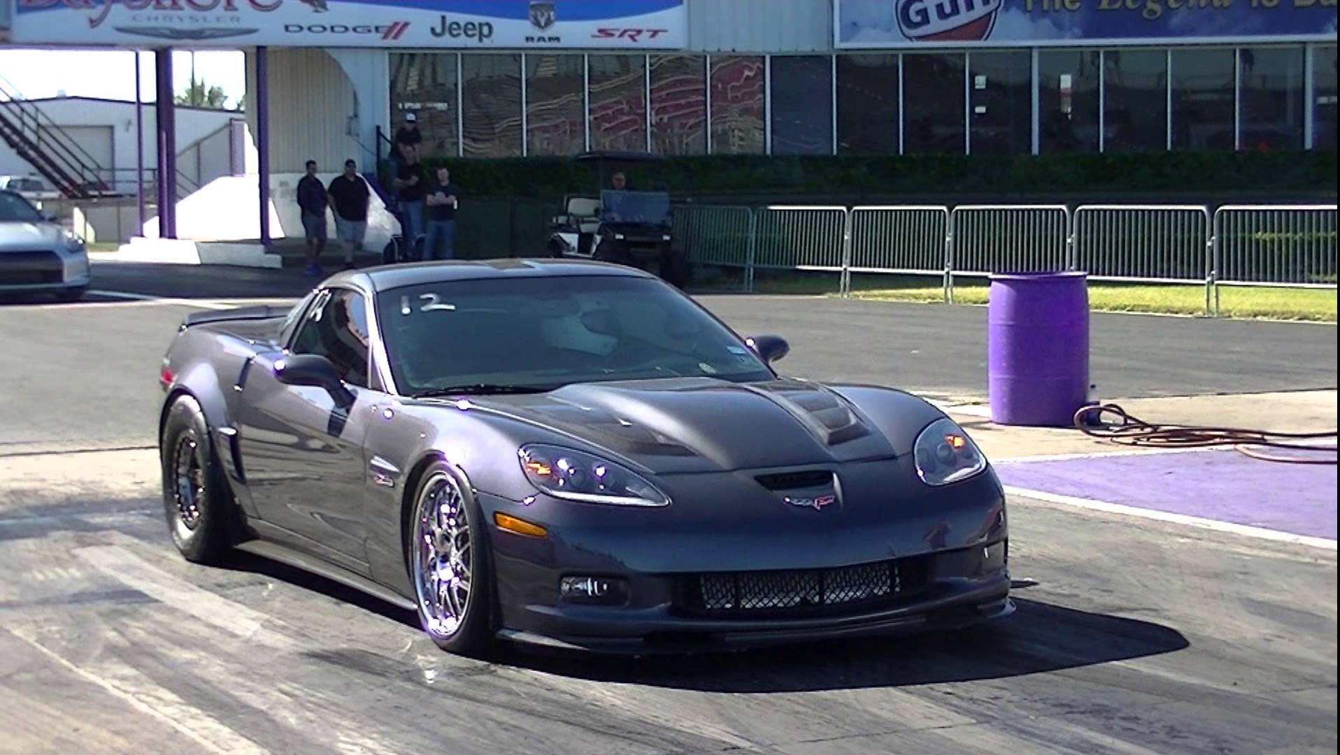 BADASS Twin Turbo C6 Corvette Z06 Traps in the 160′s