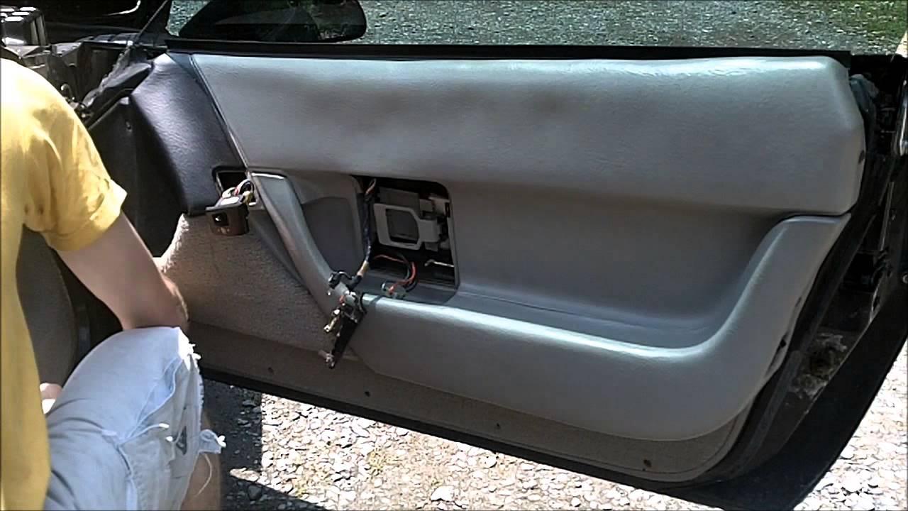 C4 Corvette Door Panel Removal Vettetube Corvette Videos