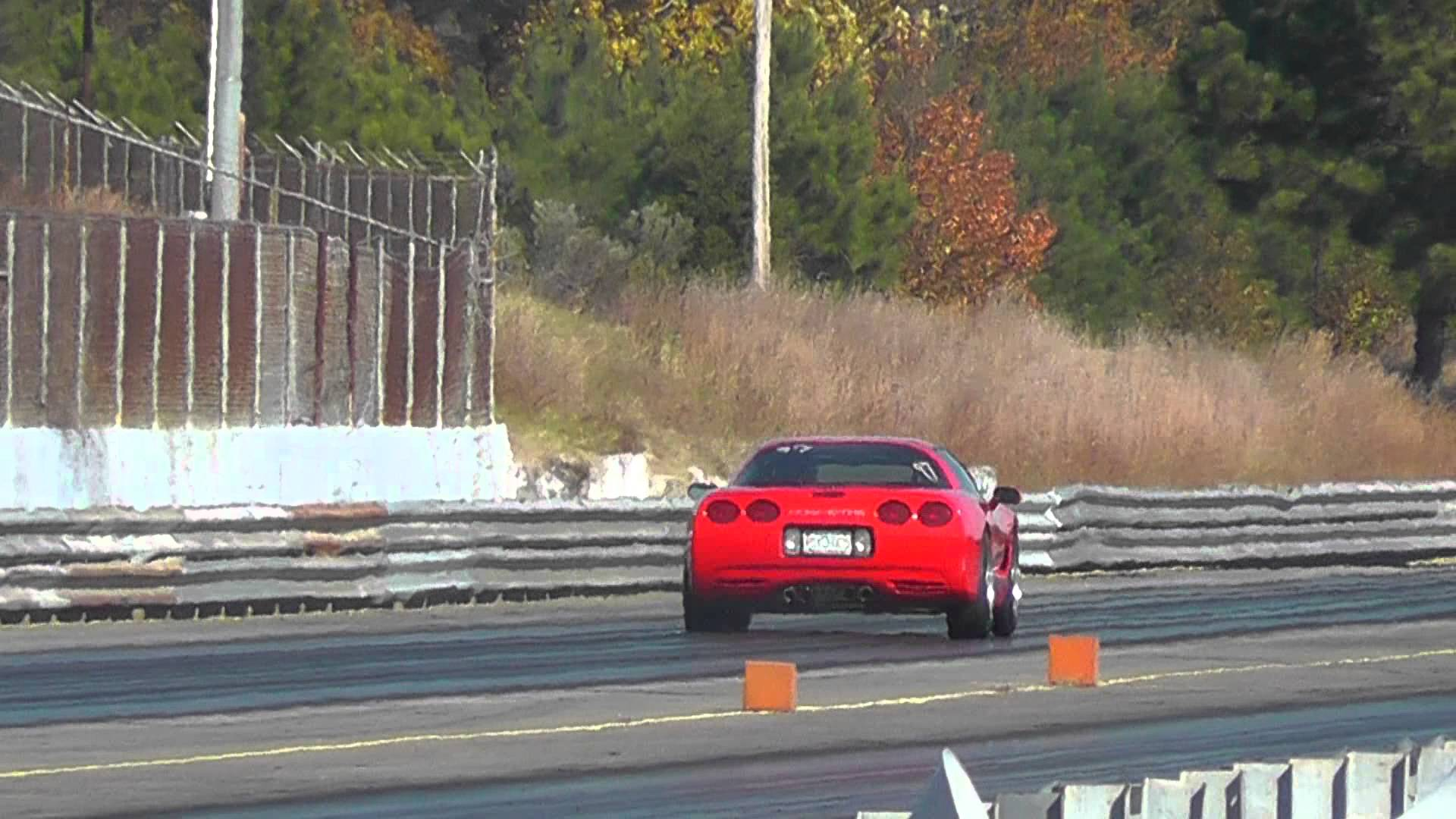 C5 Corvette Run on the Dragstrip