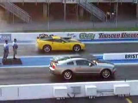 C6 Corvette Spanks a Shelby GT 500