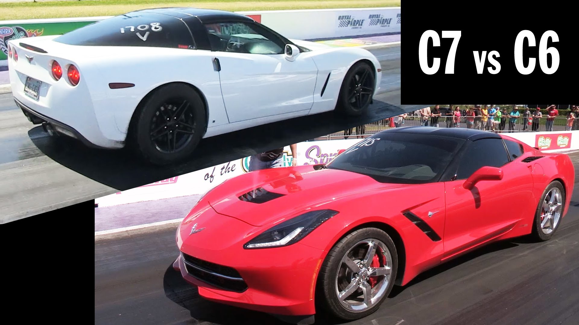 C7 vs C6 – 10 Second Corvettes – Great Race!