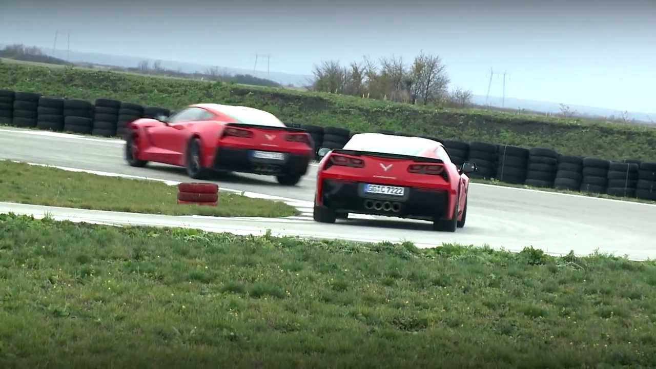 Chevrolet Corvette Stingray at Navak track in Belgrade