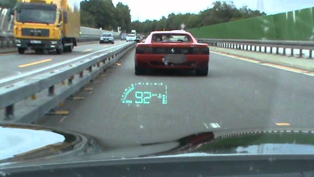 Corvette C5 vs Ferrari 512TR Autobahn Germany