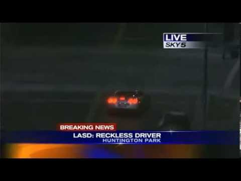 Corvette C6 chased by LAPD ends with violent crash, shooting in Los Angeles