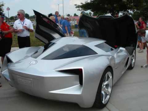 Corvette Stingray Concept Car- driving at the NCM