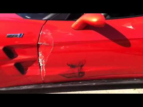 Corvette ZR1 driver crashes into Chrysler SRT8 – Aftermath