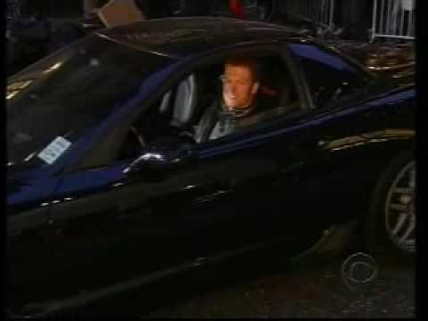 Dale Earnhardt Jr. doing burnouts in a Corvette Z06 in New York City