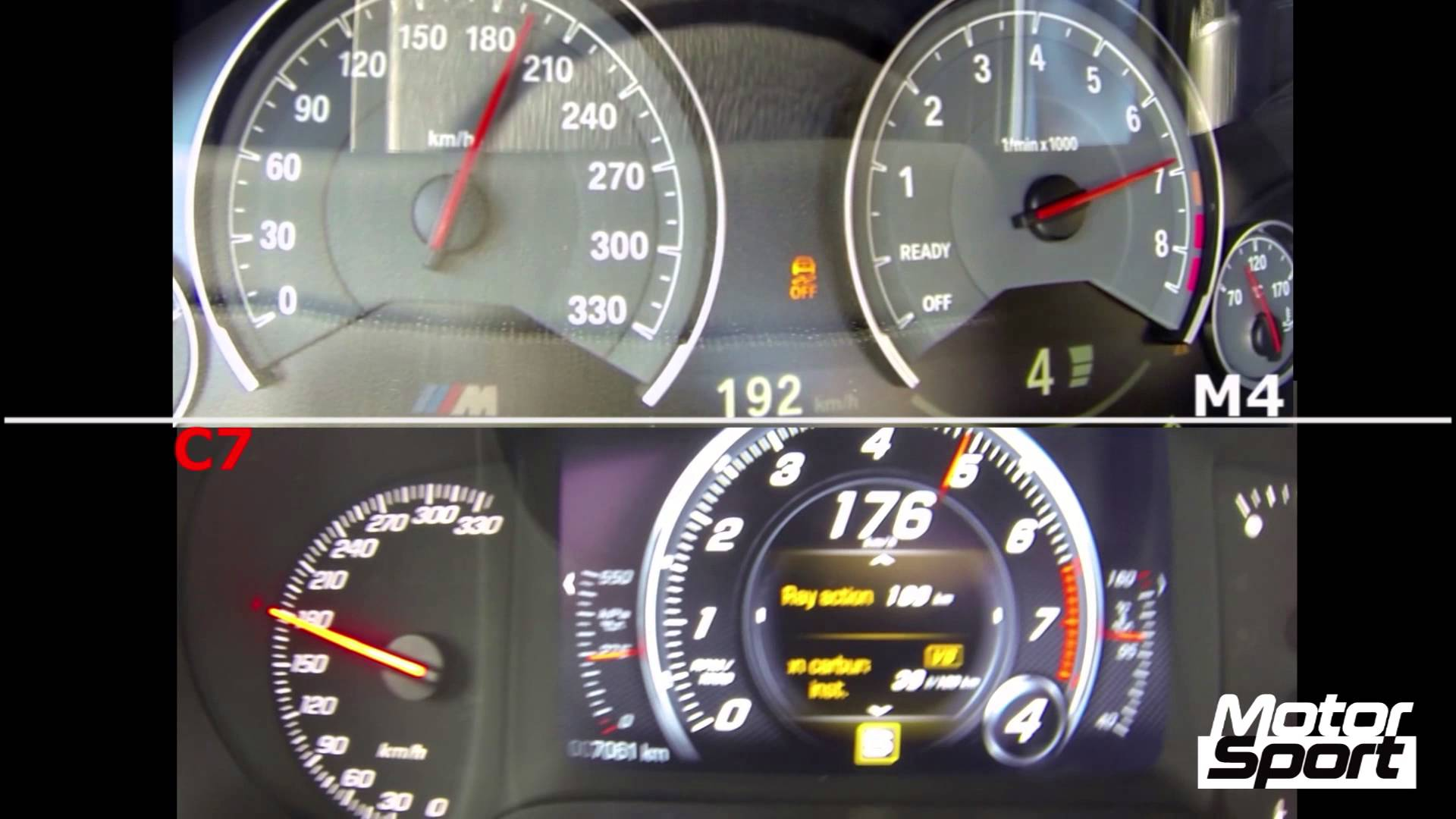 Drag Race: BMW M4 vs Corvette Stingray C7