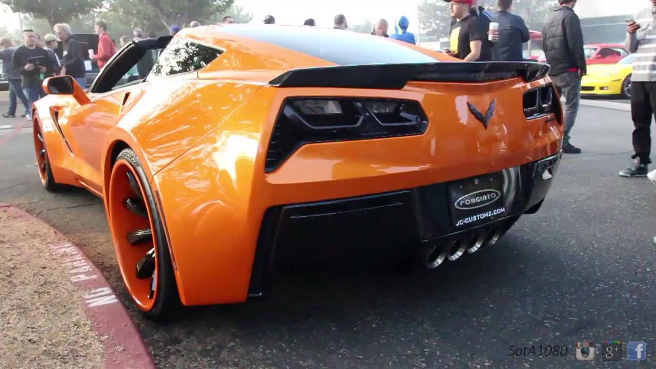 Forgiato Widebody C7 Corvette Stingray at Cars and Coffee