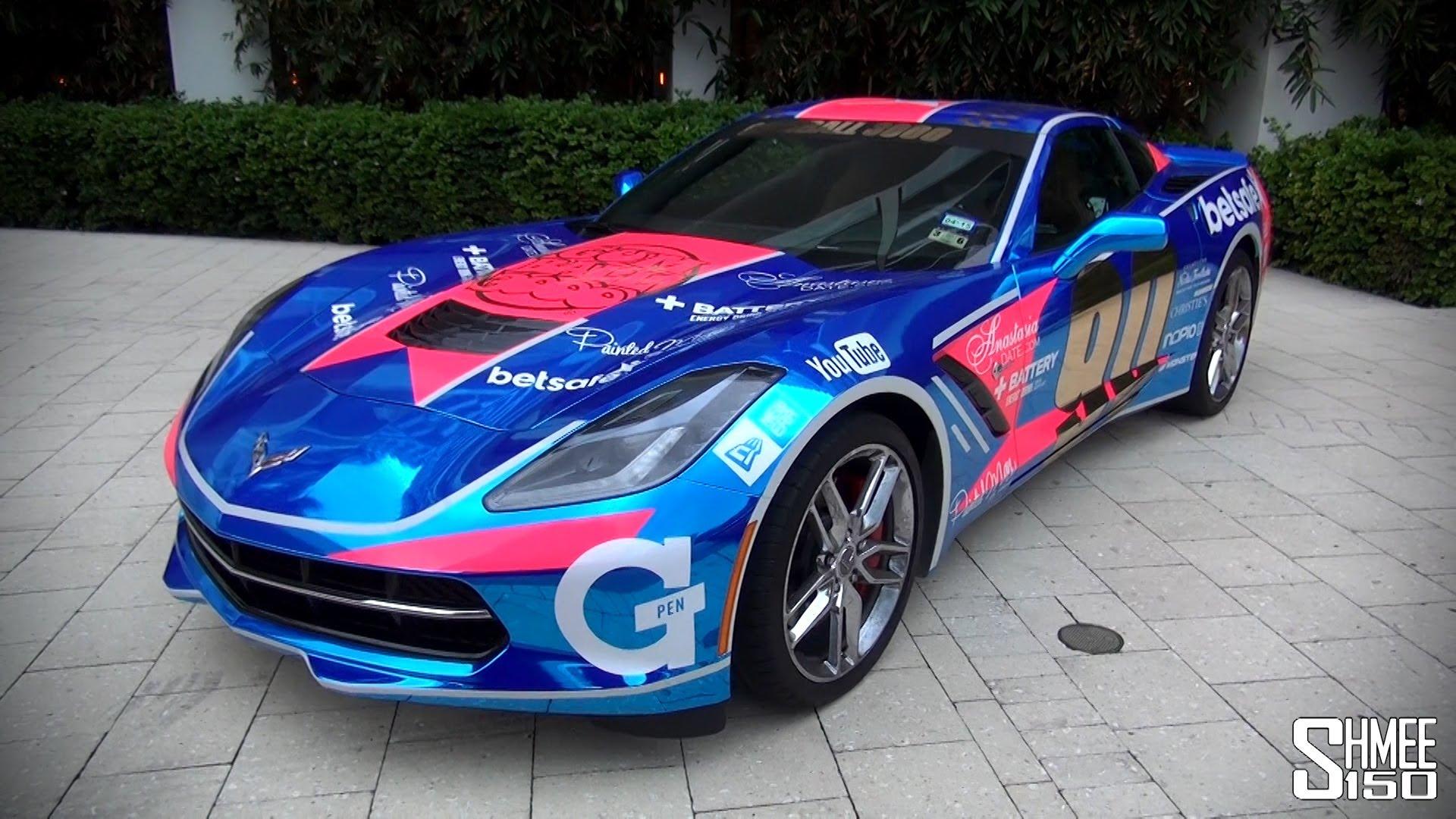 Gumball 3000 2014: Chrome Blue Corvette Stingray