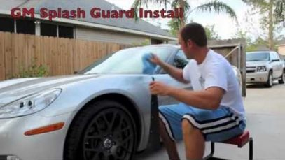 How to install splash guards on a C6 Corvette