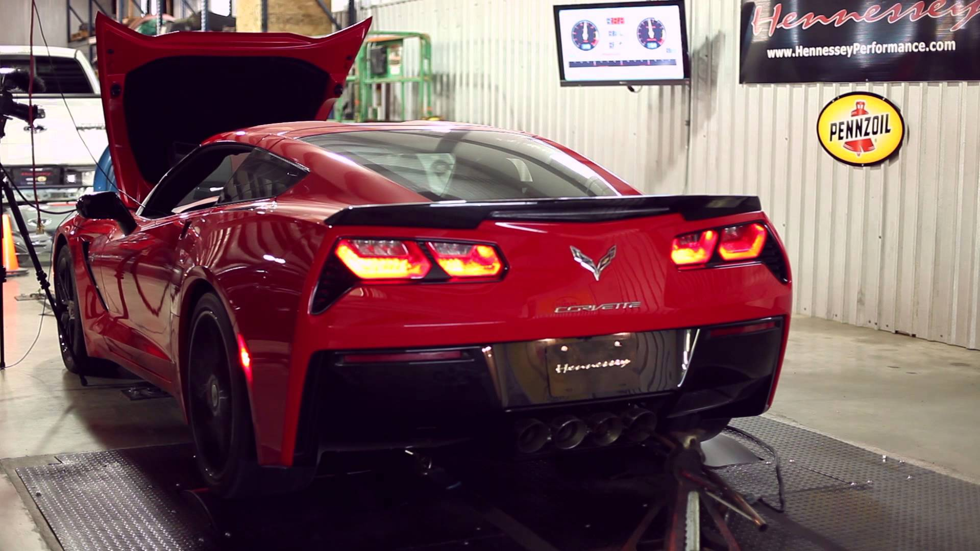 HPE700 Twin Turbo C7 Corvette Chassis Dyno Testing