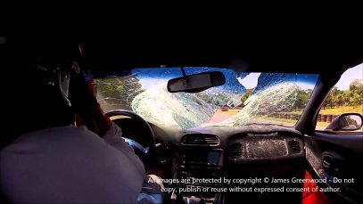 In-Car Footage of A Corvette Striking a Deer at High Speed on a Road Course