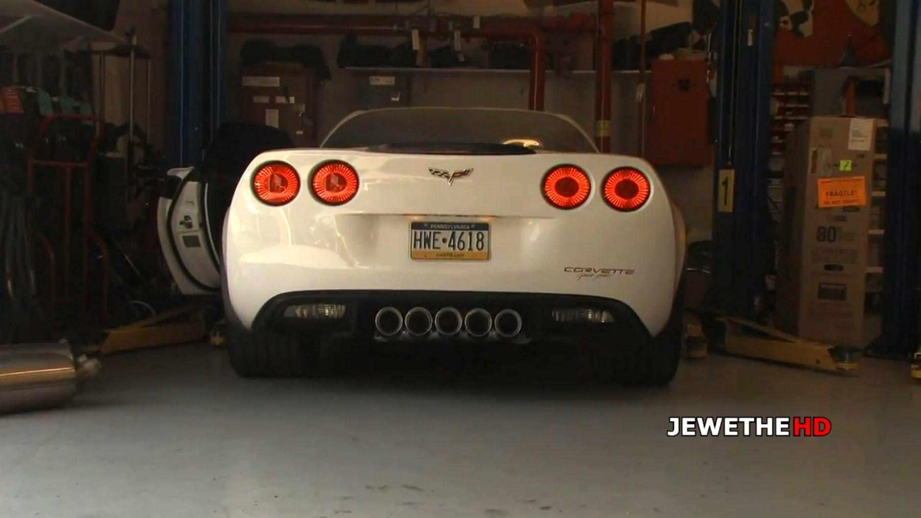 MAD SOUNDING Corvette C6 Grand Sport with Custom Race Exhaust Loud REVS!