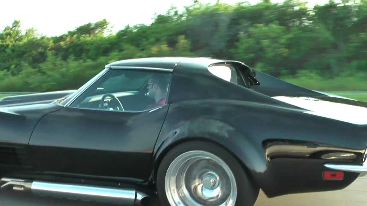 Modified 1972 Corvette on highway