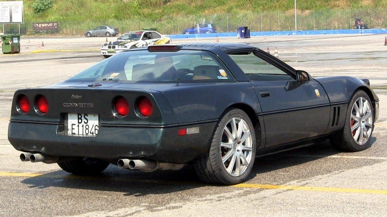 Modified Corvette C4 LOUD V8 SOUND