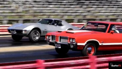 Rare L88 427 Corvette vs Olds 442 W30 – 1/4 Mile Drag Race