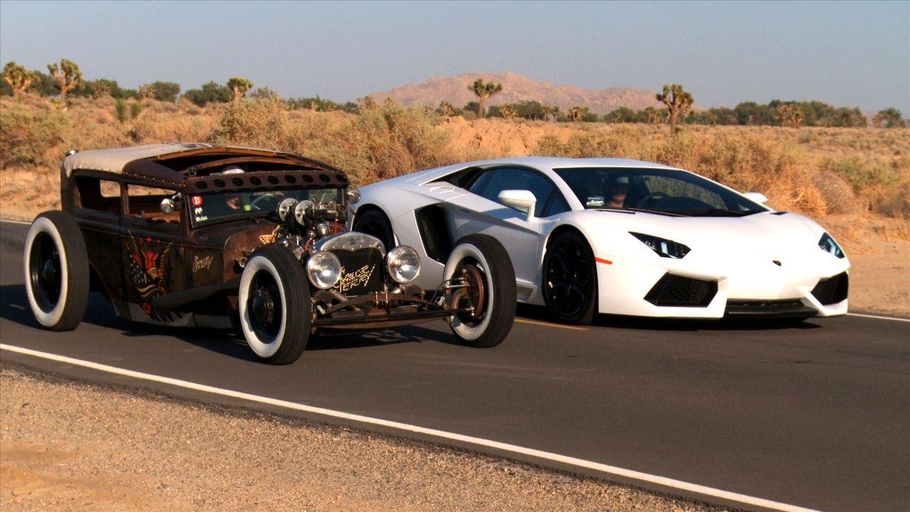 Rat Rod vs Lamborghini Aventador!