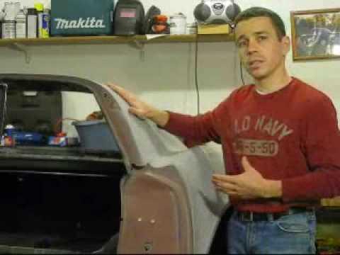 Separating Bonded Fiberglass Panels on a C3 Corvette