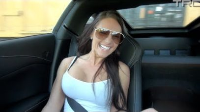 Sexy girl rides in C7 Corvette Stingray!