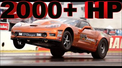 2000+ HP Twin Turbo Corvette Z06 RIPS down the strip!