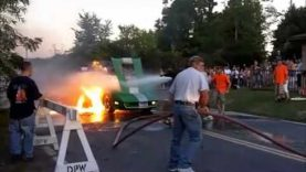 Corvette Burns Into Flames