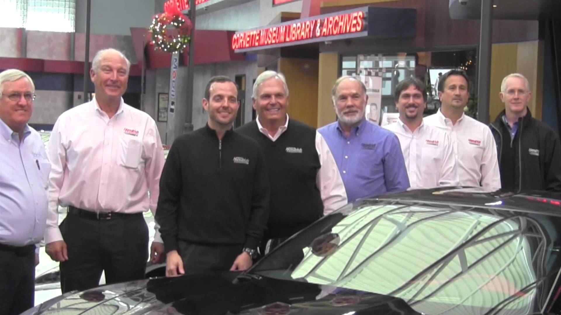 Rick Hendrick picks up his VIN #1 Z06 at the National Corvette Museum