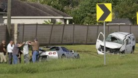 Off-Duty Houston Texas Police Officer Involved in Head-On Crash with C5 Corvette Z06