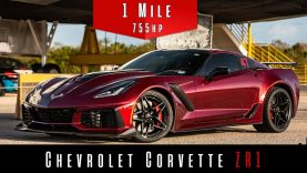 Watch This 2019 Corvette ZR1 Hit Nearly 200 MPH in the Standing Mile