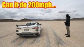 Watch This 2020 Corvette Stretch Its Legs to 173 MPH on a Dry Lake Bed