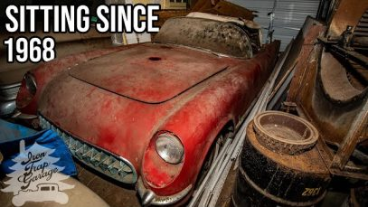 A 1954 Corvette Unearthed After 68 Years – 1 of 145 Made In Sportsman Red!!